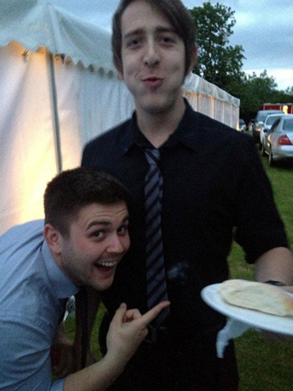 The Hot Shots | Sam and Alex's wedding | Bun fight!